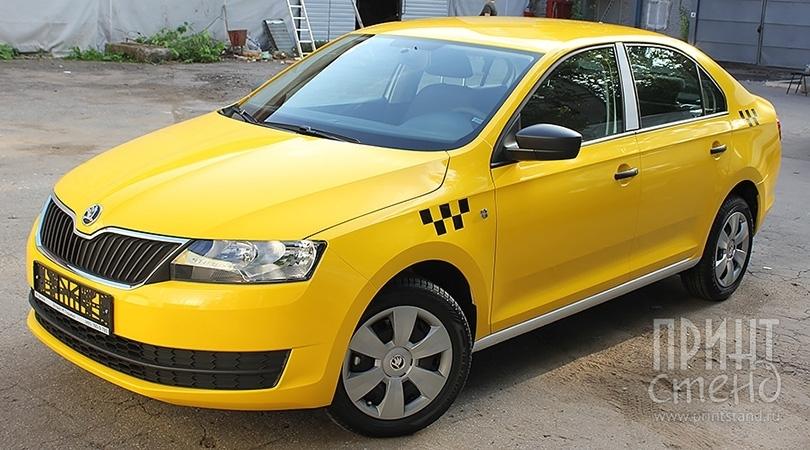 Оклейка такси желтой пленкой. Знаем все нюансы для получения лицензии.